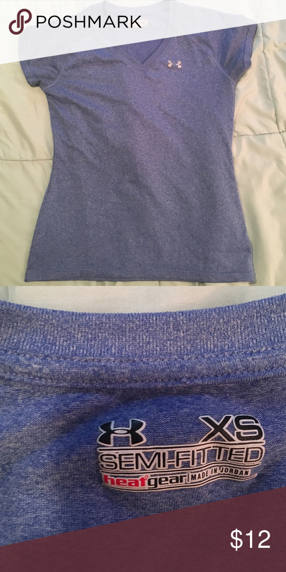 c53cf6b9 Under Armour Semi fitted tee bluish-lavender color! XS, semi fitted. not  too loose and not tight either. perfect condition:) Under Armour Tops Tees  - Short ...