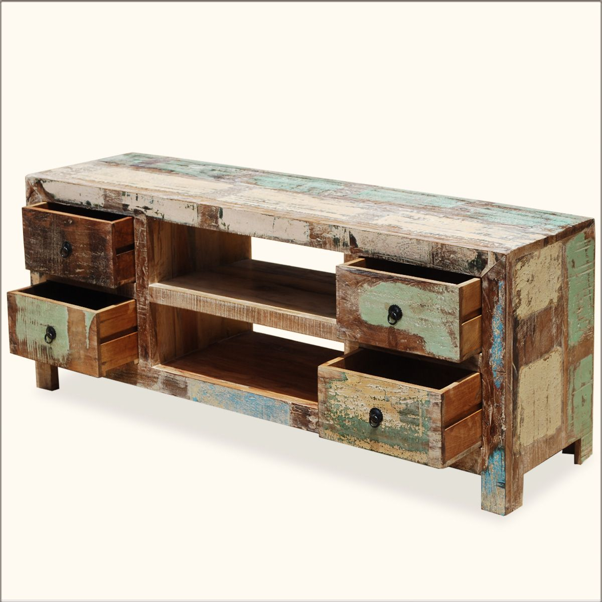 Elegant Reclaimed Wood Media Cabinet