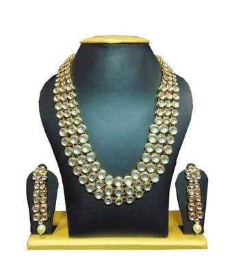 Bollywood replica kundan set white Handmade jewelry designs