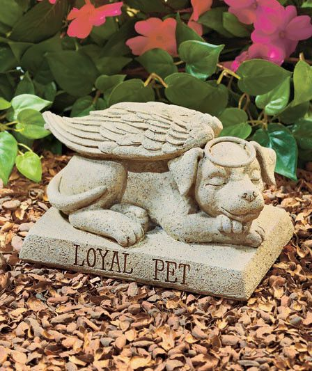 Angel Dog Memorial Garden Statue Sculpture Loyal Pet ...