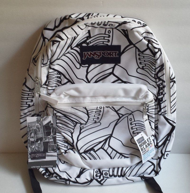 Jansport Backpack Super G White Black Color Me Custom Make Free ...
