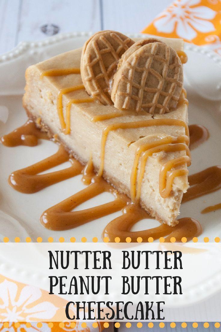 Nutter Butter Peanut Butter Cheesecake #cheesecakerecipes
