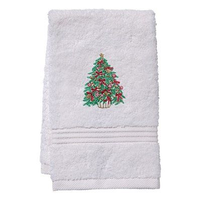 The Holiday Aisle Christmas Tree Terry Cloth Fingertip Towel