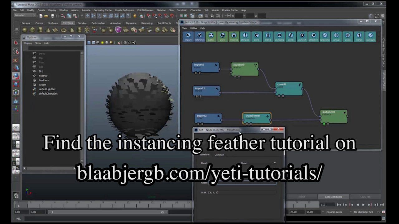 Feathers and instancing with Yeti | Yeti