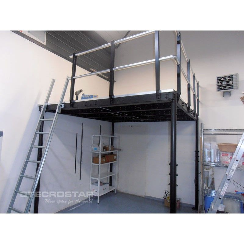 ts 8 mezzanine with s ladder mezzanine small spaces and bedroom office. Black Bedroom Furniture Sets. Home Design Ideas