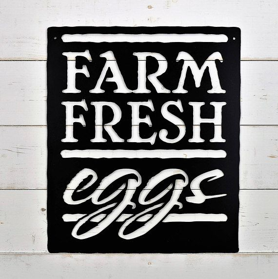 Farm Fresh Eggs Metal Sign Farm Style Wall Art Kitchen Sign Home
