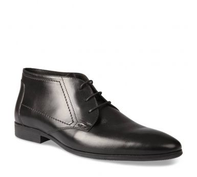 Matteo Cuir Chaussure Rossi Ms Hommes NoirChaussures Ybfvg76Iy
