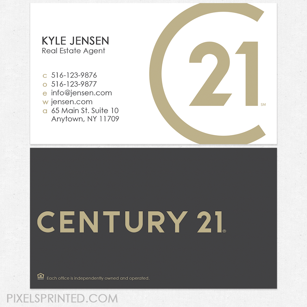 New Century 21 Logo Cards Century 21 Business Cards Real Estate