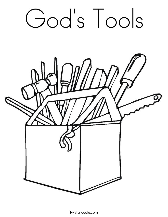 Gods Tool Box Coloring Page