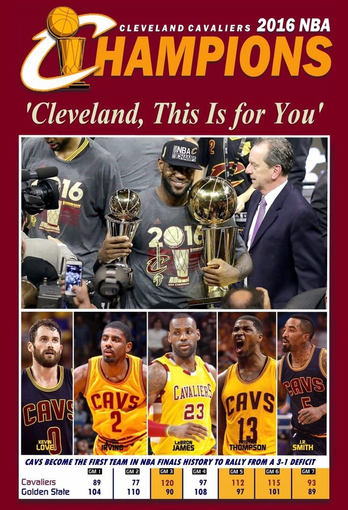 94177ce11382d CLEVELAND CAVALIERS WIN THE 2016 NBA CHAMPIONSHIP COMMEMORATIVE POSTER  ClevelandCavaliers  Lebron James Cavs