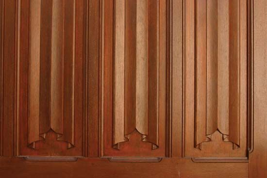 An Example Of Linenfold Paneling Inside Old Lodge From