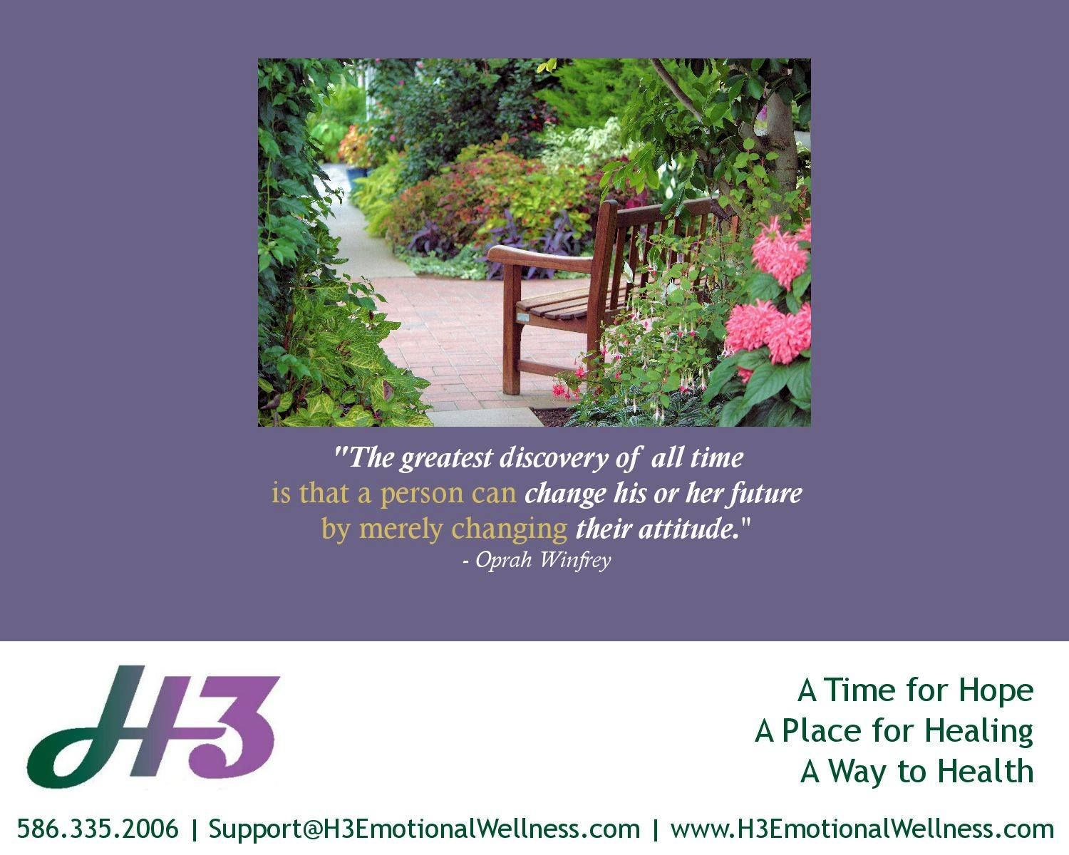 H3 Hope Healing Health Positivewaystolive