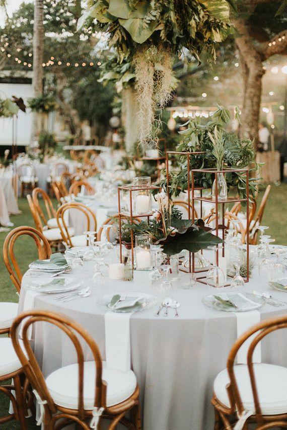 Elegant, romantic white + green wedding at Khayangan