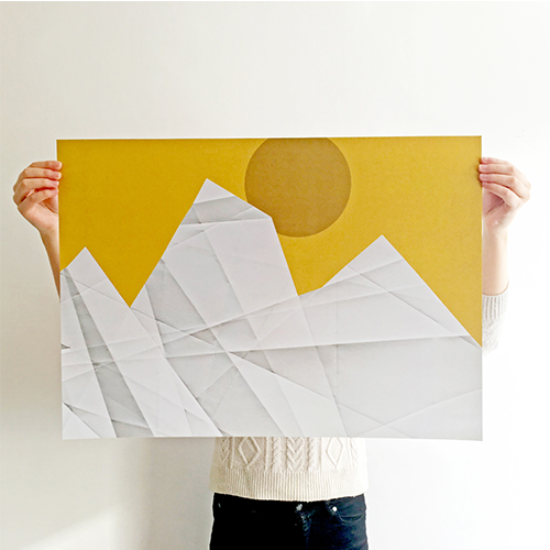 Artprint, landscape illustration poster at Loods5, by Irene Linders