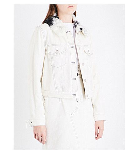 3.1 PHILLIP LIM Sherpa Collar Denim Jacket. #3.1philliplim #cloth #coats & jackets
