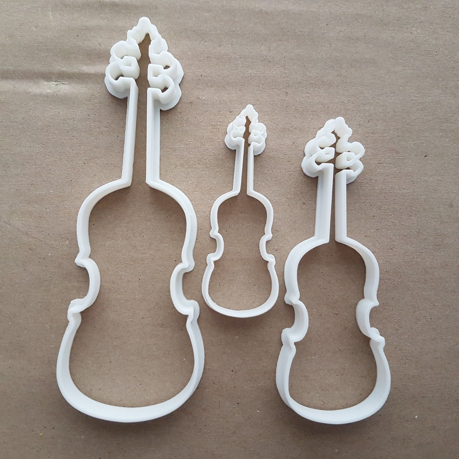 Guitar Bass Acoustic Electric Shape Cookie Cutter Music Biscuit Pastry Stencil