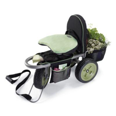 Deluxe Swivel Garden Scooter