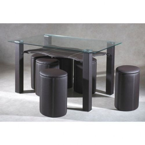 Encastrables Poufs Marron Dallas 6 Manger A Table Avec qSpVUMGz