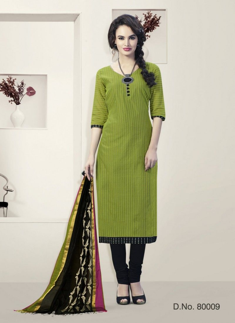 Green Churidar Suit Wholesale Collection With Georgette Febric
