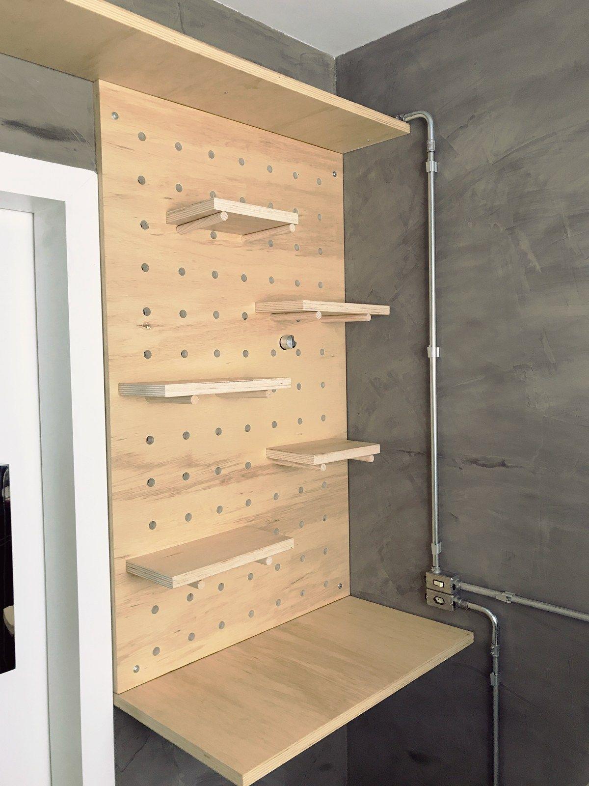 Reforma da Cozinha – Como fazer uma estante Pegboard | DIY ...
