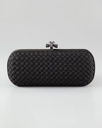 13276b5716c6 Woven Faille Large Knot Clutch by Bottega Veneta at Neiman Marcus ...
