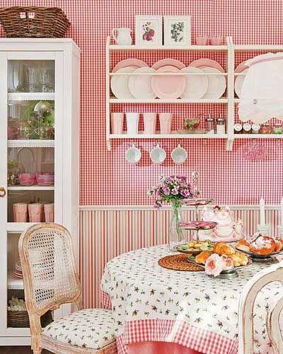 Pembe renk mutfak dekorasyonu   Pinterest