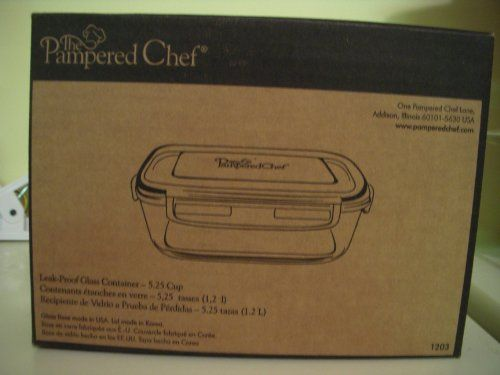 Pampered Chef 5 1 4 Cup Rectangle Leakproof Glass Container With Lid Glass Containers With Lids Glass Containers Pampered Chef