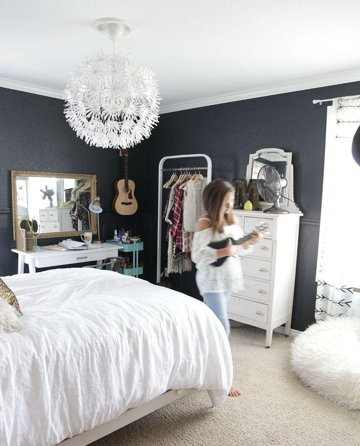 Schlafzimmer Ideen, Kinderzimmer, Einrichtung, Zimmer Einrichten, Wohnen,  Teenagermädchen Bettwäsche, Graue Bettwäsche, Mädchenzimmer (teenager), ...