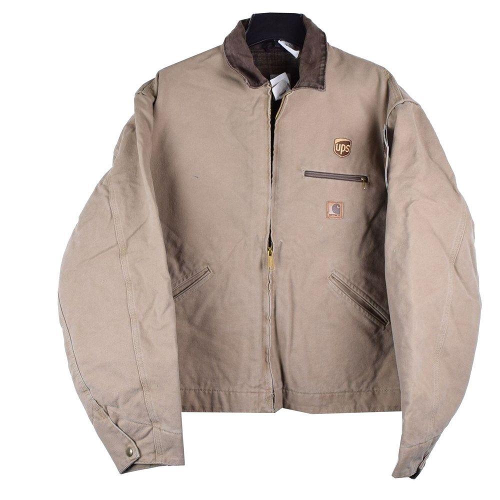 Carhartt United Parcel Service Ups Uniform Detroit Jacket Sandstone Duck Xl New Coats Jackets Winter Coat Men S Coats Jackets [ 1000 x 1000 Pixel ]