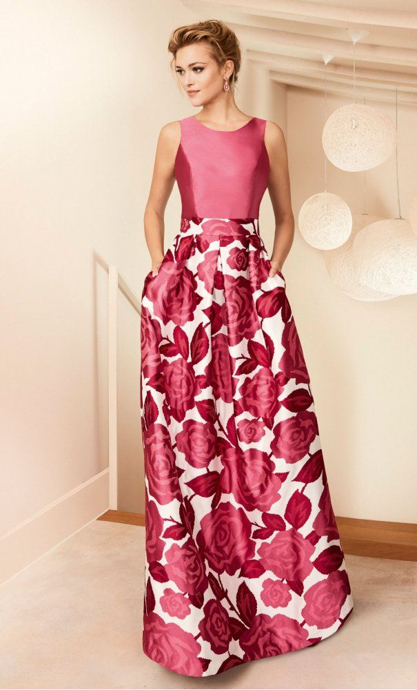 Vestido NATI JIMENEZ Largo Estampado | vestidos de dama de noche ...