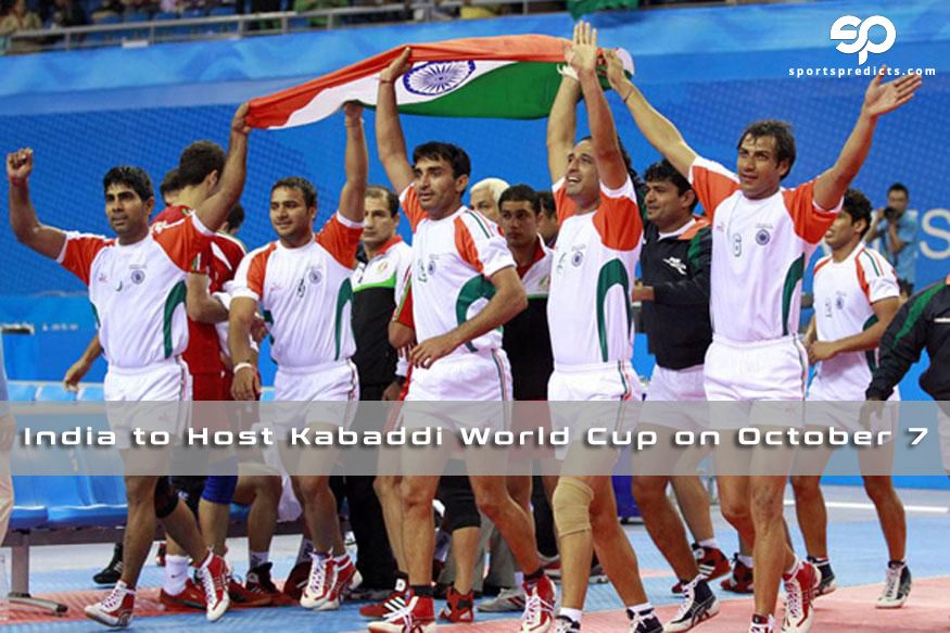 India To Host Kabaddi World Cup On October 7 At Ahmadabad Watch Sportspredicts Com For All Latest News And Updates Kabaddi World Cup India Facts Sports