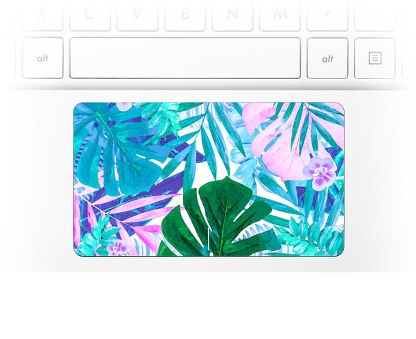 Watercolor Jungle Laptop Trackpad Sticker Made to order for any HP