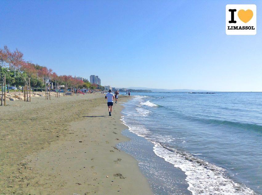 Running the beautiful coast line of #Limassol #Cyprus.