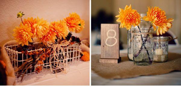 Wedwebtalks Wp Content Uploads 2014 07 Elegant Fall Wedding Decoration With Mason Jars