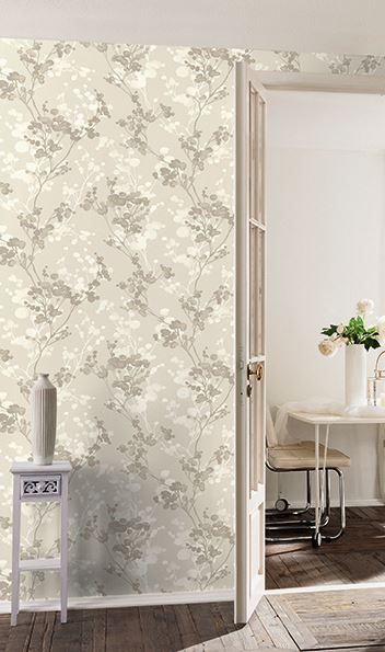 Branchage taupe-gris - Papier peint Little Forest Nature wallpaper