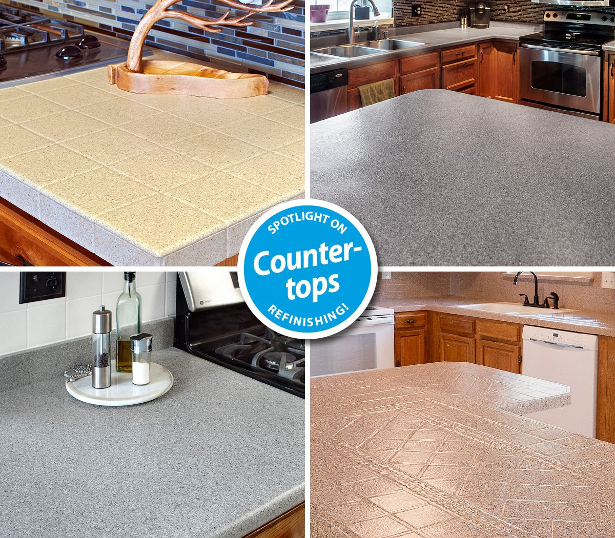 Your outdated countertops can look this beautiful again ...