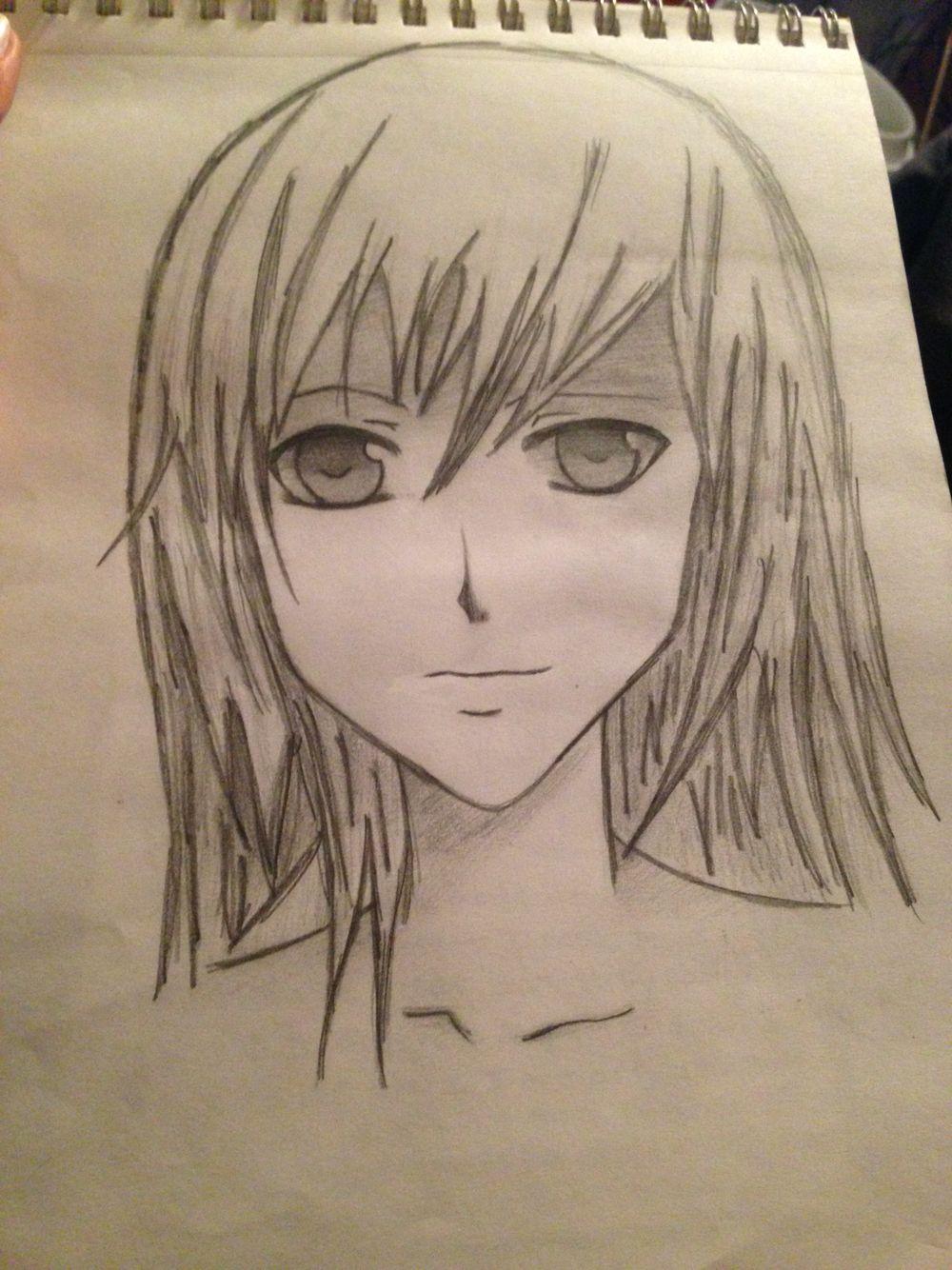 Anime self portrait tekenen