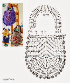 I love artigianato schemi uncinetto crochet borse all 39 uncinetto borse fatte all 39 uncinetto for Schemi borse uncinetto