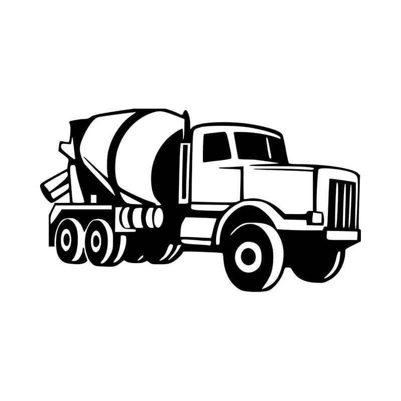 Cement Truck Vinyl Decal Sticker Cement Truck Vinyl Decal Stickers Truck Decals