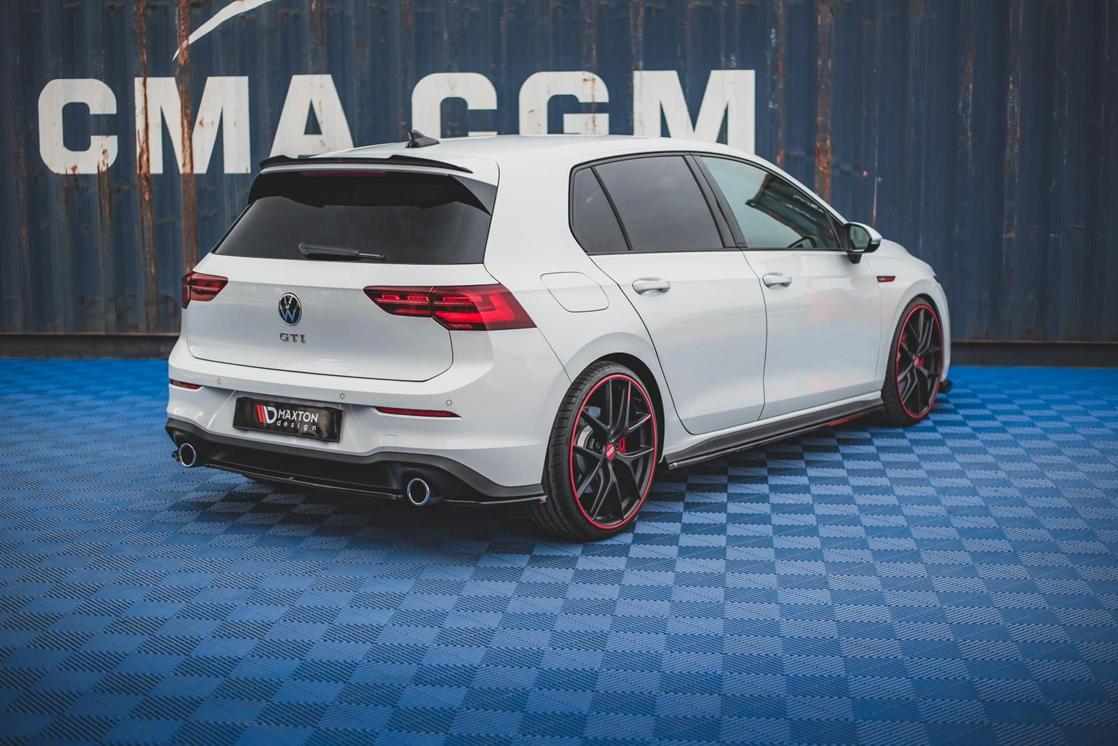 Vw Golf Gti Mk8 Stands Out With New Body Kit Small Changes Make A Big Difference Golf Gti Vw Golf Gti