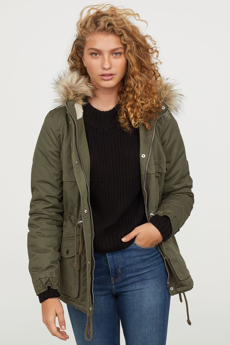 5c087fa1d72 Pile-lined Parka in 2019 | Coats Of Quaint | Parka, Outerwear women ...
