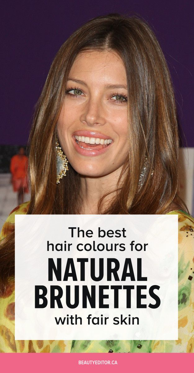 The Best Hair Colours For Natural Brunettes With Fair Skin Fair
