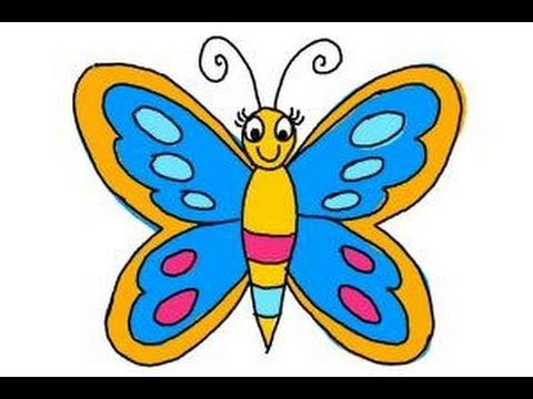 How To Draw A Butterfly Easy Step By Step Drawing Lessons For Kids Youtube Butterfly Drawing Colorful Butterfly Drawing Butterfly Drawing Images