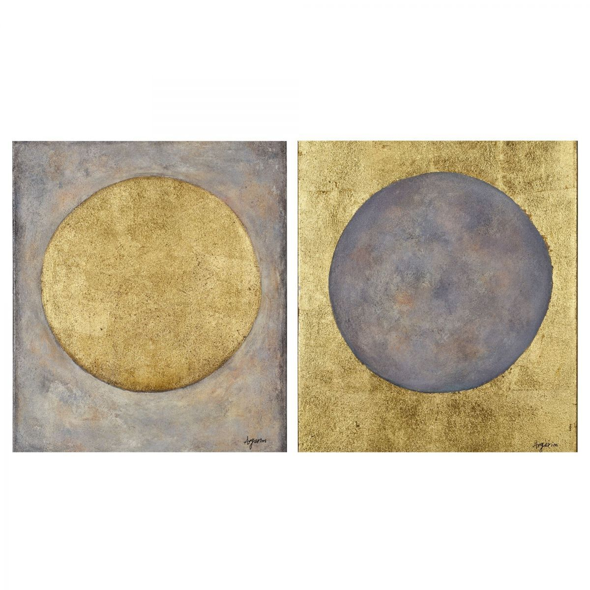 Hand-painted on canvas - Gold leaf accents   Artwork   Pinterest ...