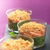Recette crumble de courgettes aux deux saumons #repassainequilibré Crumble de courgettes aux deux saumons