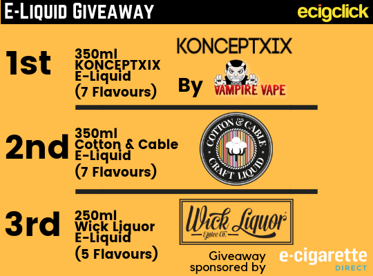 Vape Giveaways - Check Out Our Latest Vaping Competitions