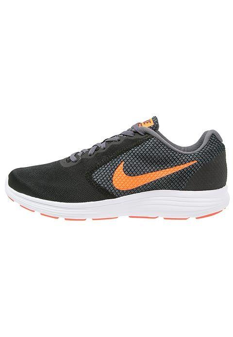7b8c640595d8a8 Nike Performance REVOLUTION 3 - Neutral running shoes - black total  orange dark grey