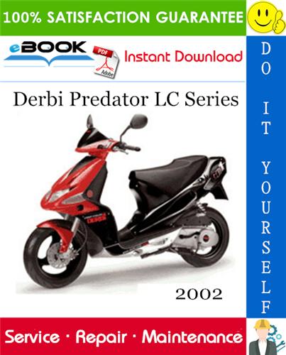 2002 Derbi Predator Lc Series Scooter Service Repair Manual Repair Manuals Repair Predator
