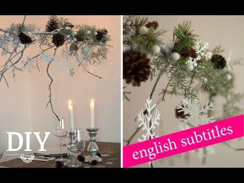 diy gro en weihnachtlichen zweig dekorieren deko. Black Bedroom Furniture Sets. Home Design Ideas