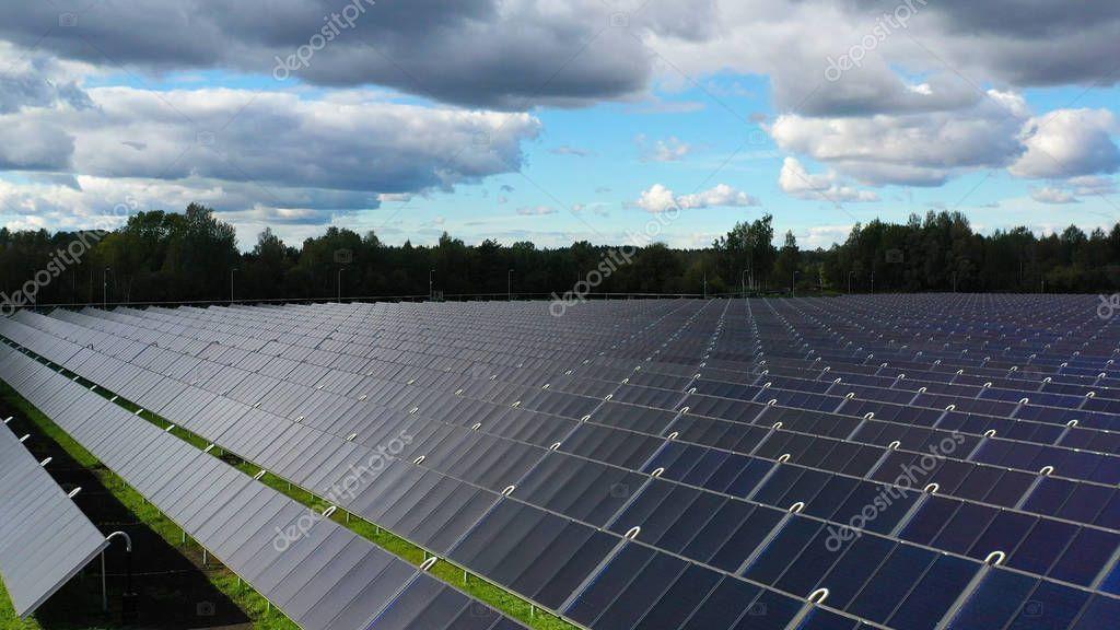 Ariel View Shot Drone Farm Field Lot Solar Panels Produce Stock Photo Ad Drone Farm Field Ariel Ad In 2020 Solar Panels Solar Farm Field